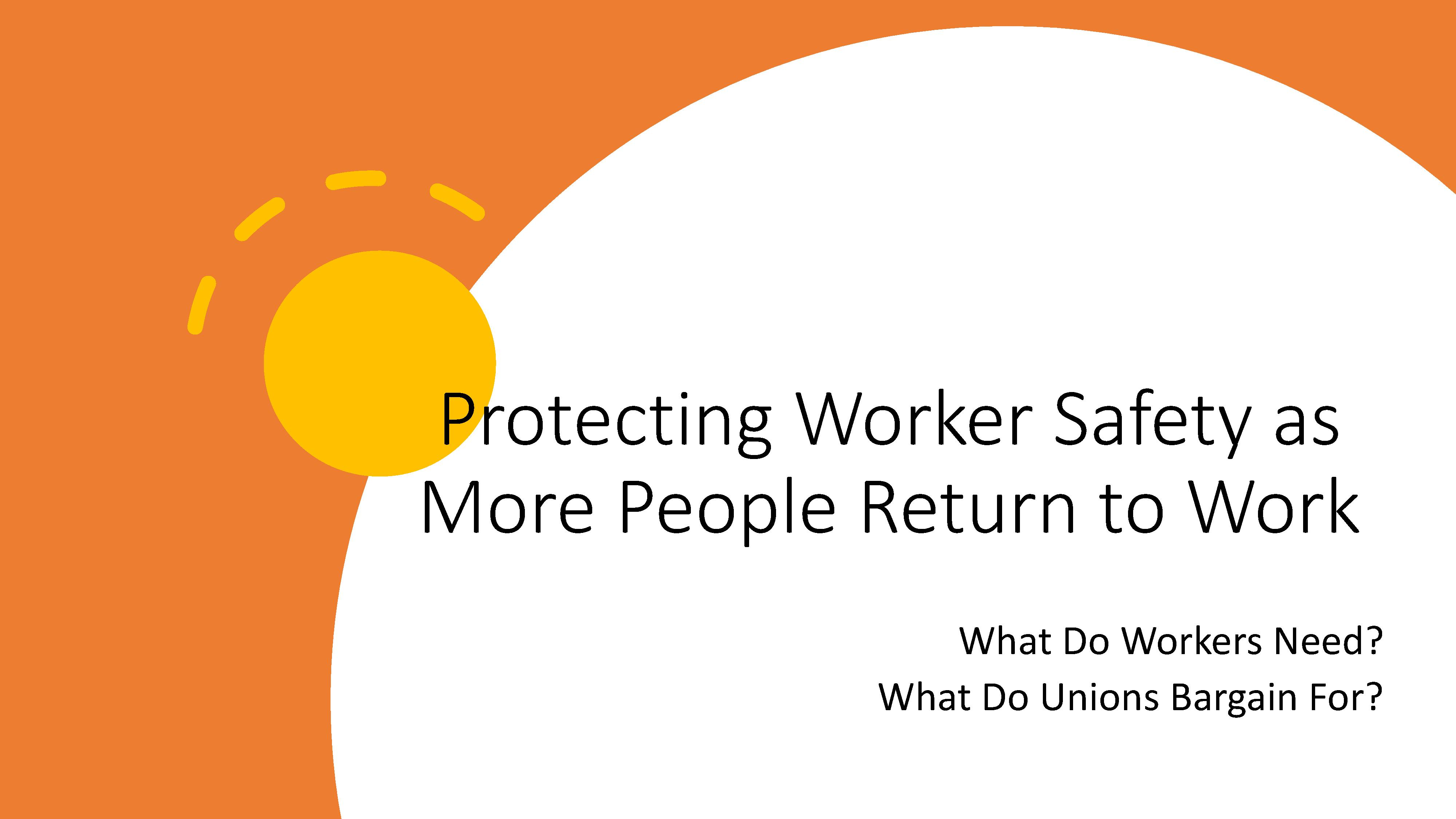 Protecting Worker Safety as More People Return to Work